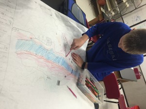 7th graders were hard at work on their topographic maps.